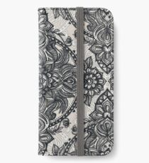 Charcoal Lace Pencil Doodle iPhone Wallet/Case/Skin
