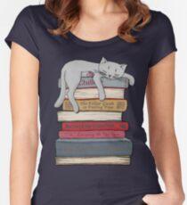 Camiseta entallada de cuello ancho Cómo enfriar como un gato