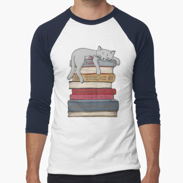 How to Chill Like a Cat Baseball ¾ Sleeve T-Shirt