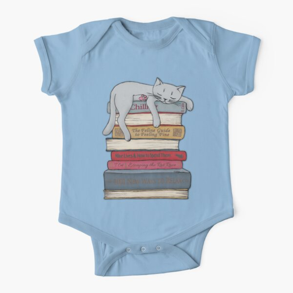 How to Chill Like a Cat Short Sleeve Baby One-Piece