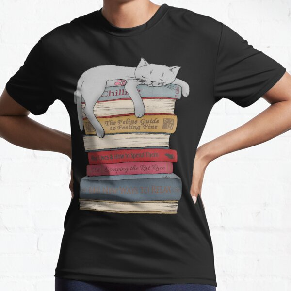 How to Chill Like a Cat Active T-Shirt