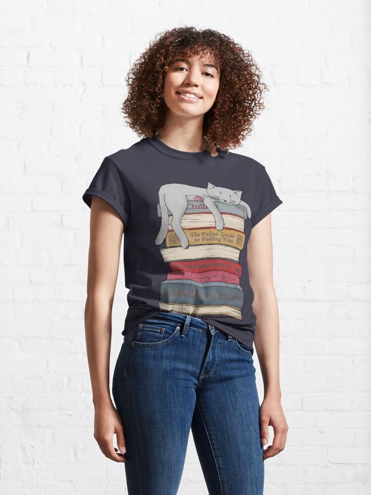 Alternative Ansicht von Wie man wie eine Katze chillt Classic T-Shirt