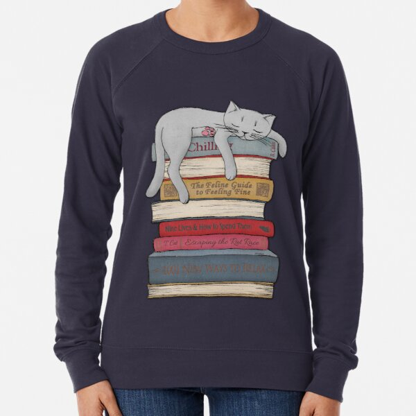 How to Chill Like a Cat Lightweight Sweatshirt