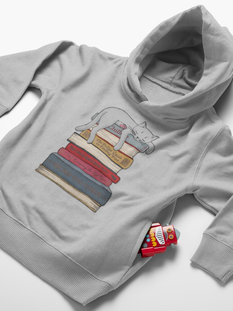 Alternate view of How to Chill Like a Cat Toddler Pullover Hoodie