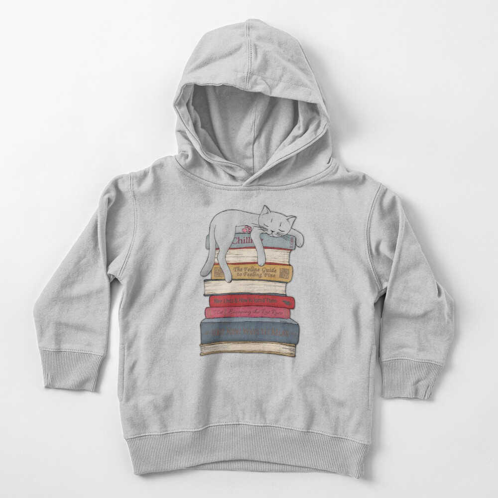 How to Chill Like a Cat Toddler Pullover Hoodie