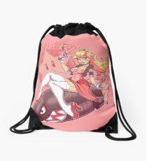 Gamer Girl Peach Drawstring Bag