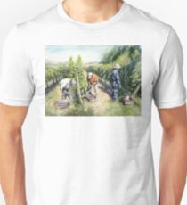 Vineyard Watercolor Painting T-Shirt