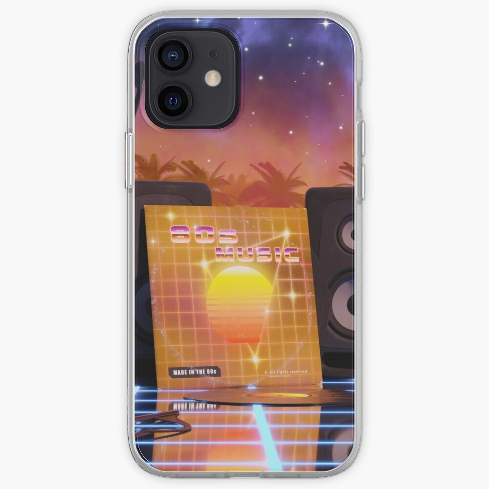 80s music in music land with palm trees iPhone Case