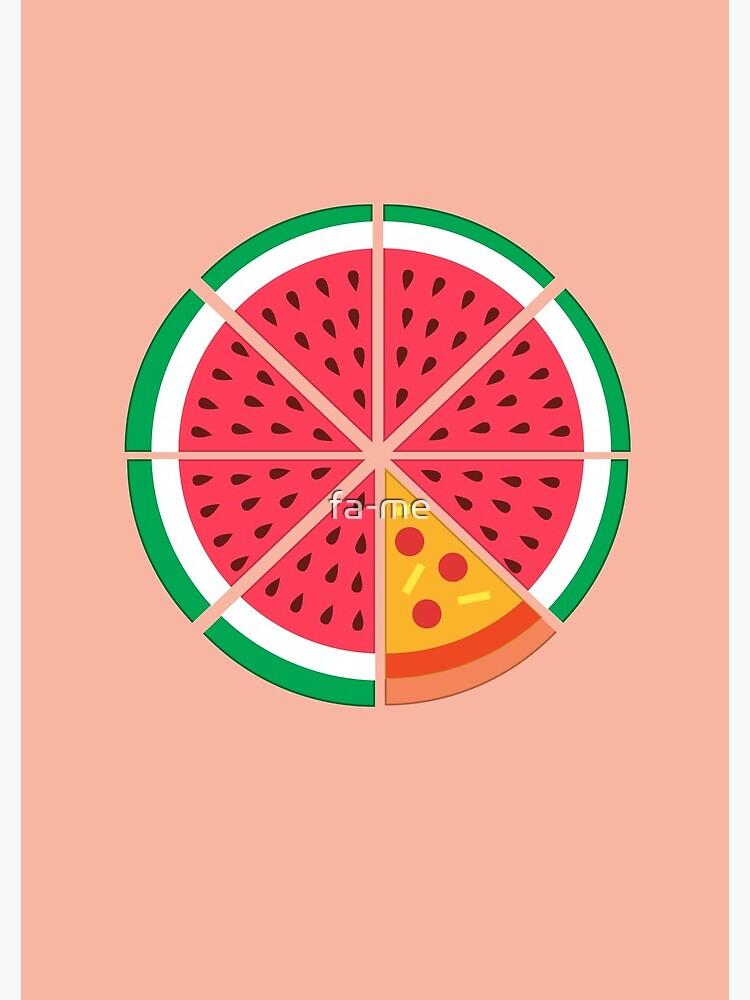 Watermelon Pizza by fa-me