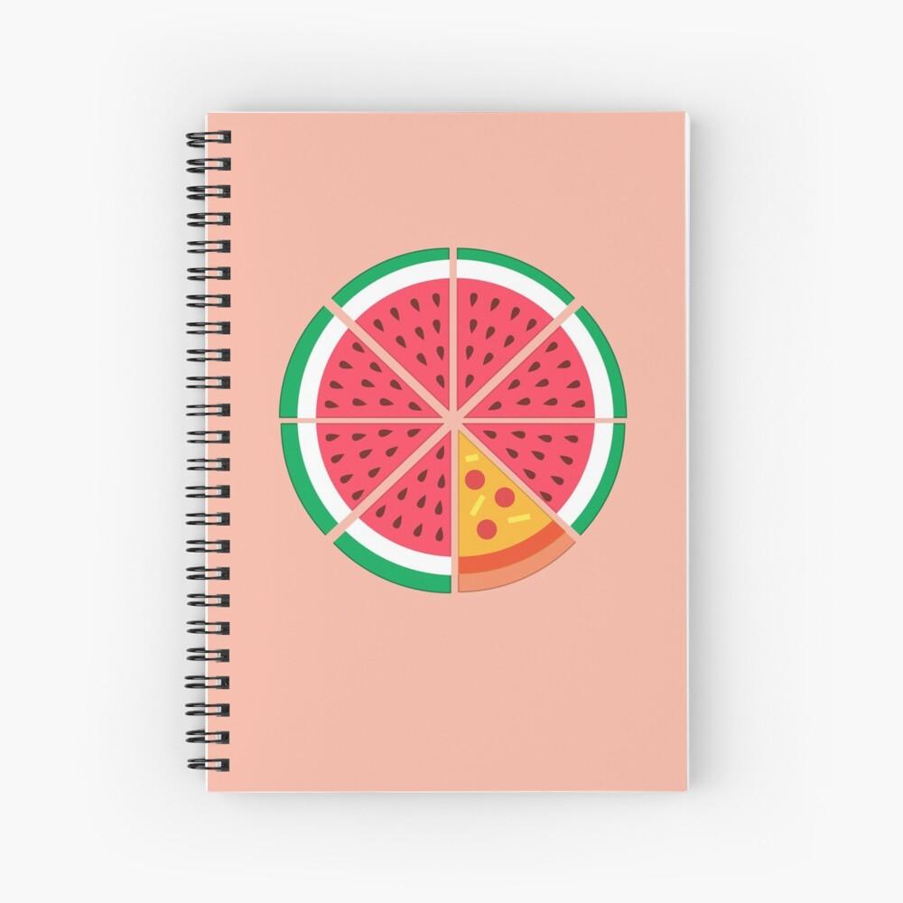 Watermelon Pizza Spiral Notebook