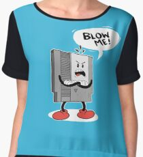 Blow Me NES  Chiffon Top