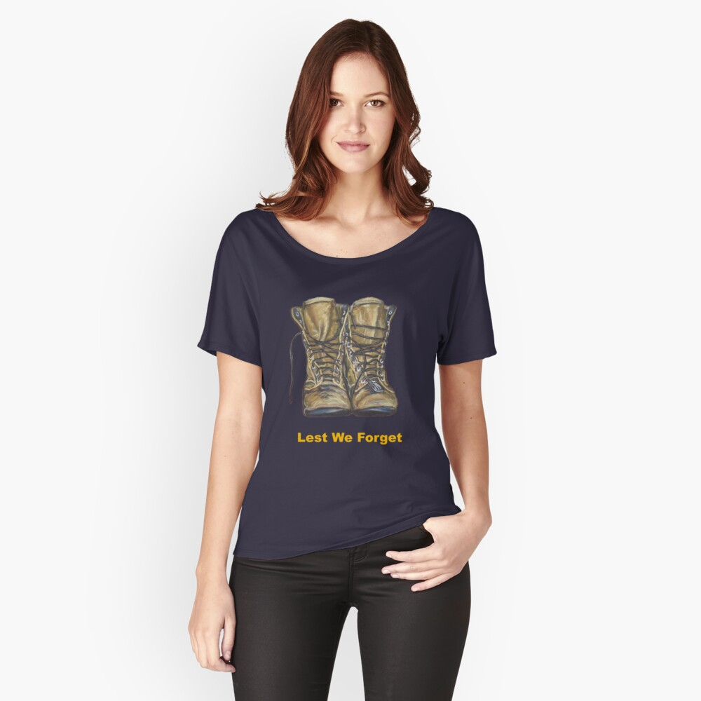 Lest We Forget Women's Relaxed Fit T-Shirt Front