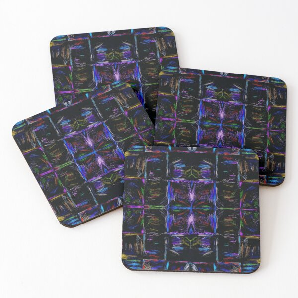 KA Expressionist Block Collage 6 Coasters (Set of 4)