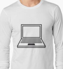 computer laptop notebook pc write screen mobile tablet T-Shirt