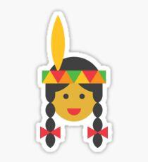 a native american girl Sticker