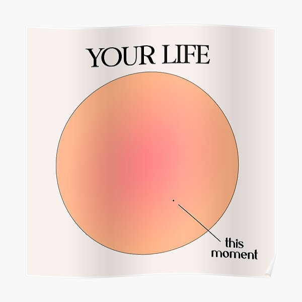 Your Life vs This Moment Visualization Poster