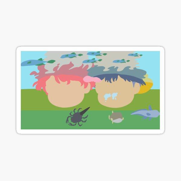 Ponyo and Sosuke Looking Underwater Sticker