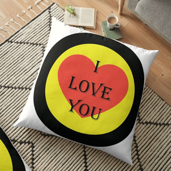 I LOVE YOU Floor Pillow