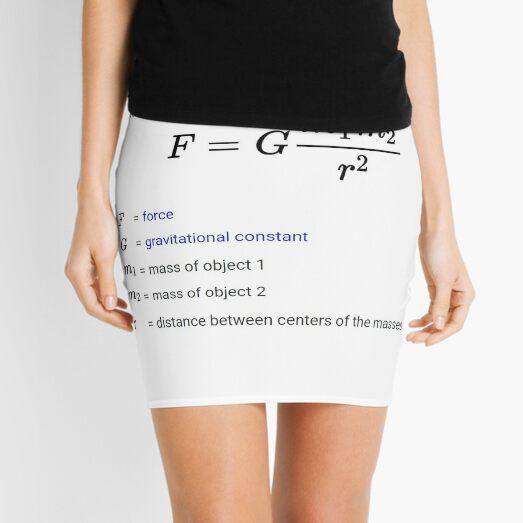 Newton's law of universal gravitation Mini Skirt