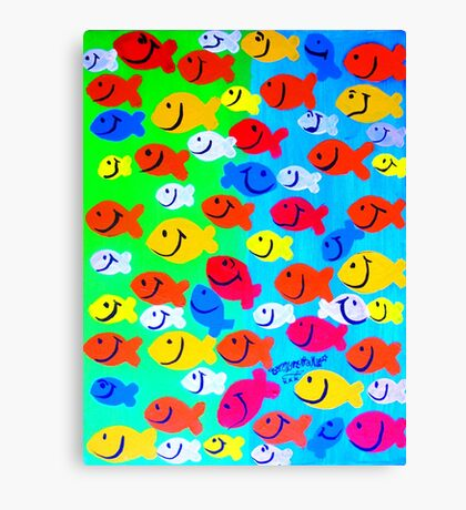 Any which way go fishies Canvas Print