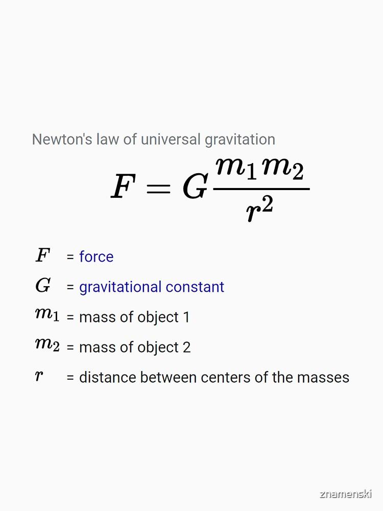 Newton's law of universal gravitation by znamenski
