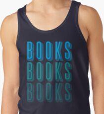 BOOKS BOOKS BOOKS in blue Tank Top