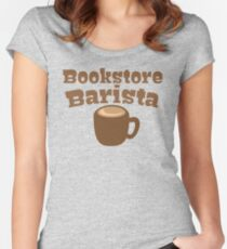 Bookstore Barista Women's Fitted Scoop T-Shirt