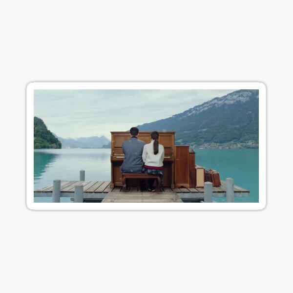 Piano Scene  Sticker