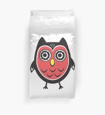 Coral Wowl Duvet Cover