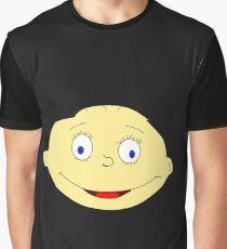 Funny Baby Head Graphic T-Shirt
