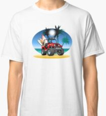Cartoon Jeep on the beach Classic T-Shirt