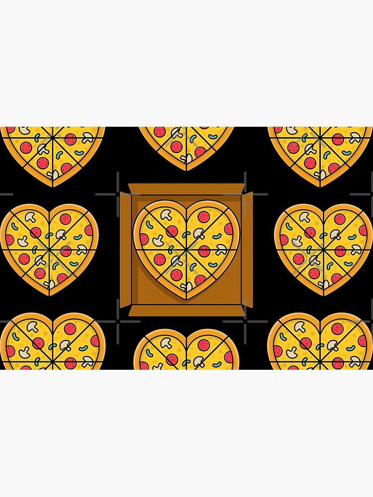 Boxes of Pizza Hearts by Ranggasme