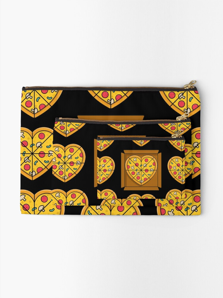 Alternate view of Boxes of Pizza Hearts Zipper Pouch