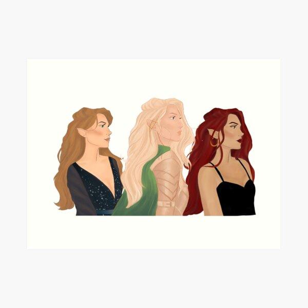 Aelin, Feyre & Bryce Art Print