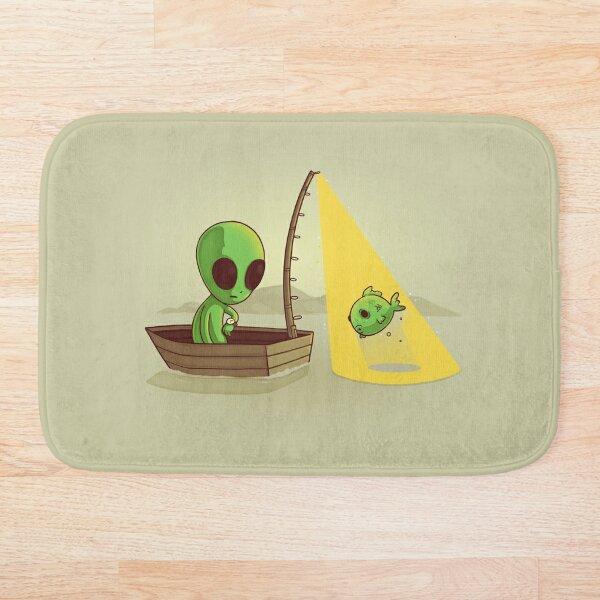 Alien fishing Alfombra de baño