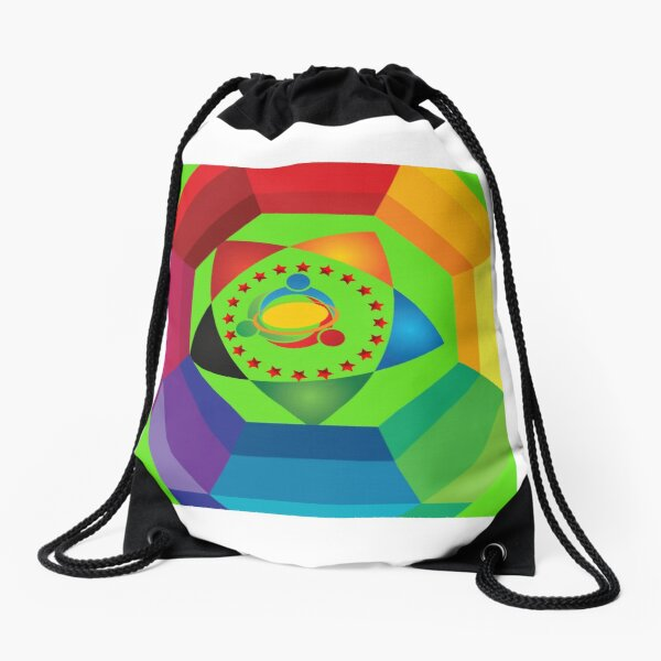 Colourfull art Drawstring Bag