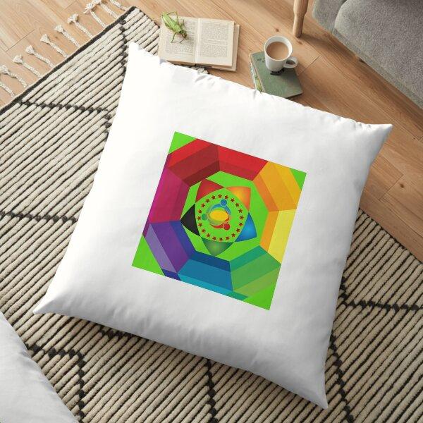 Colourfull art Floor Pillow