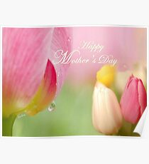 Happy Mother's Day Tulips Poster