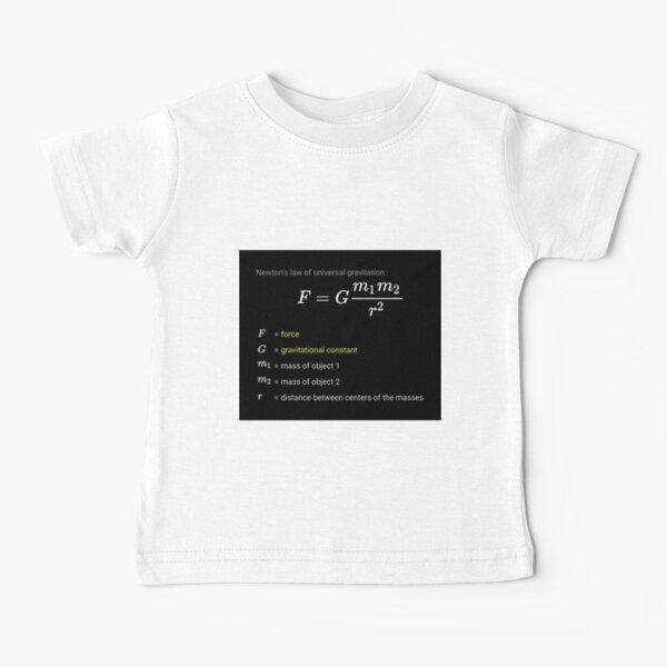 Newton's law of universal gravitation Baby T-Shirt