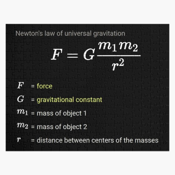 Newton's law of universal gravitation Jigsaw Puzzle