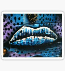 Lips graffiti Sticker