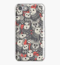 sweater mice coral red iPhone Case/Skin