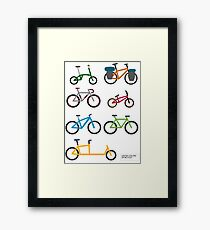 UNITED COLORS OF BICYCLES. Framed Print