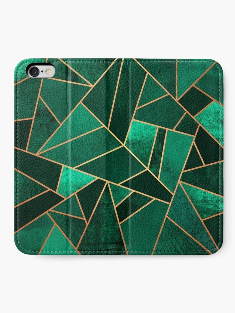 Alternative Ansicht von Smaragd und Kupfer iPhone Flip-Case