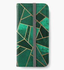 Smaragd und Kupfer iPhone Flip-Case/Hülle/Skin