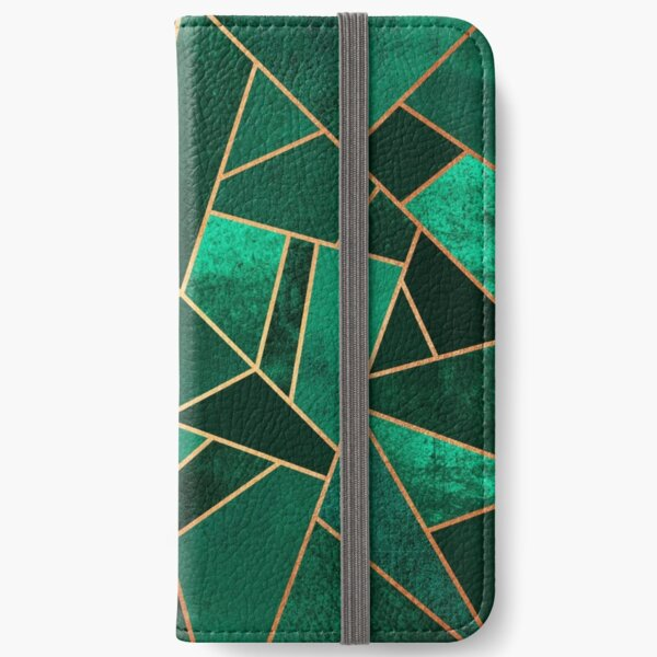 Emerald and Copper iPhone Wallet