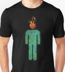MAN ON FIRE (DISTRESSED) Slim Fit T-Shirt