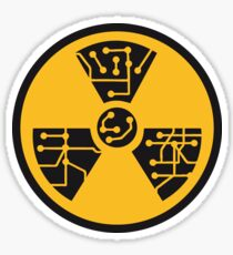 atomically atomic symbol radioactive atomic bomb fallout explosion radiation microchip electrician lines electronically circle Sticker
