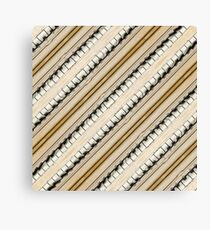 Vintage Piano Keys Graphic Canvas Print