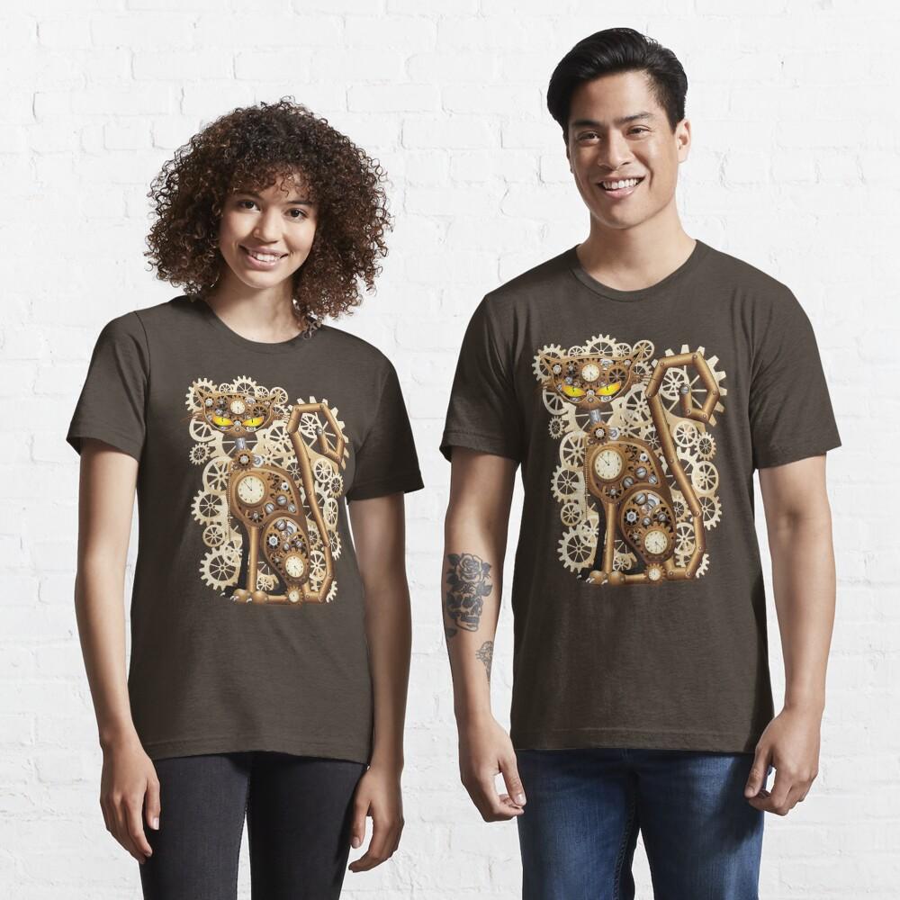 Steampunk Cat Vintage Style Essential T-Shirt